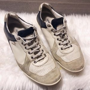 Zegna Sport Italian off white leather sneakers!